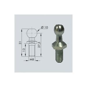 Rotule diam 10 (M8-Acier-27mm)