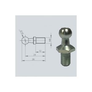 Rotule diam 10 (M8-Acier-24mm)