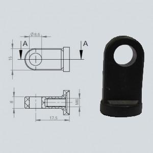 Chape à oeil 8/8 (chape M6-Aluminium-17.5mm)