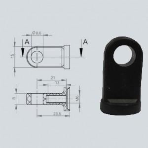 Chape à oeil 8/8 (chape M6-Nylon-23.5mm)
