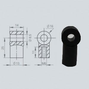 Chape à oeil 8/14 (chape M6-Nylon-25mm)