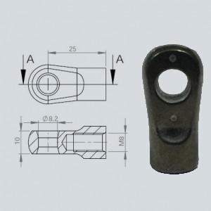 Chape à oeil 8/10 (chape M8-Alliage-25mm)