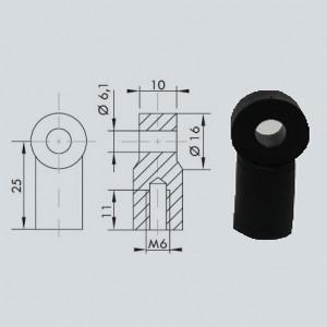 Chape à oeil 6/10 (chape M6-Nylon-25mm)