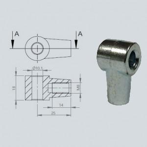 Chape à oeil 10/18 (chape M8-Alliage-25mm)