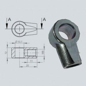 Chape à oeil 10/12 (chape M8-Acier-20mm)